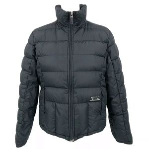 Kenneth Cole Reaction Puffer Jacket Down Zip Black